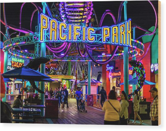 Pacific Park - On The Pier Wood Print