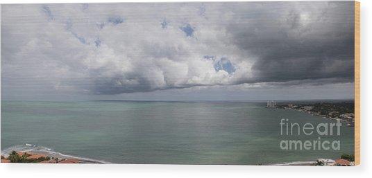 Pacific Storm Panorama Wood Print