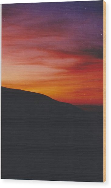 Pacific Sunset I Wood Print