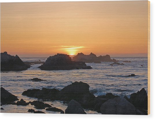 Pacific Sunset Wood Print by Pearson Photography