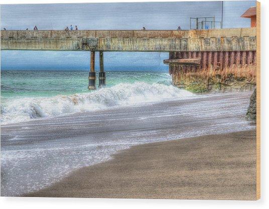 Pacifica Pier  Wood Print