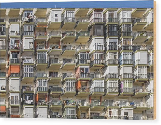 Pack And Stack - Costa Del Sol   Spain Wood Print
