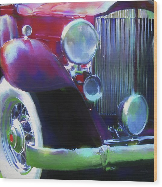 Packard Close Up Wood Print by David King