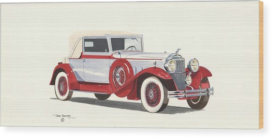 Packard Coupe Roadster 1932 Wood Print by John Kinsley