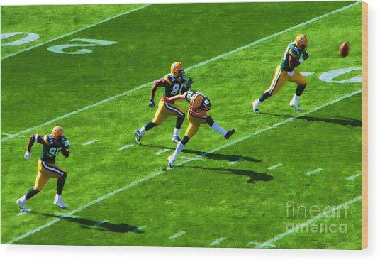 Packers Kick Wood Print
