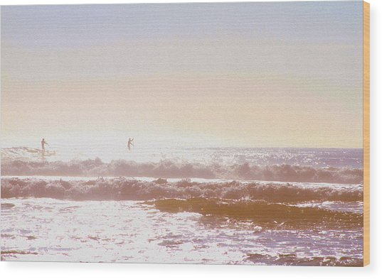 Paddleboarders Wood Print