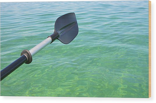 Paddling Grand Traverse Bay Wood Print