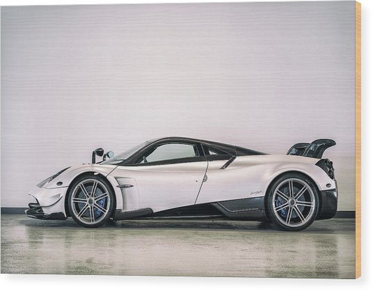Wood Print featuring the photograph #pagani #huayra Bc by ItzKirb Photography