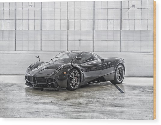 Wood Print featuring the photograph Pagani Huayra by ItzKirb Photography