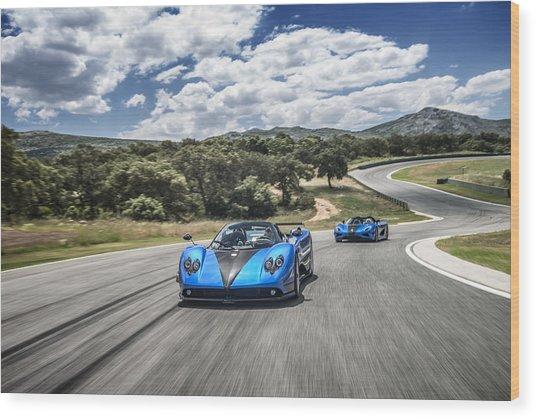 Pagani Zonda Hh And Koenigsegg Agera Hh Wood Print