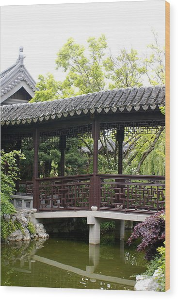 Pagoda Wood Print by Sonja Anderson