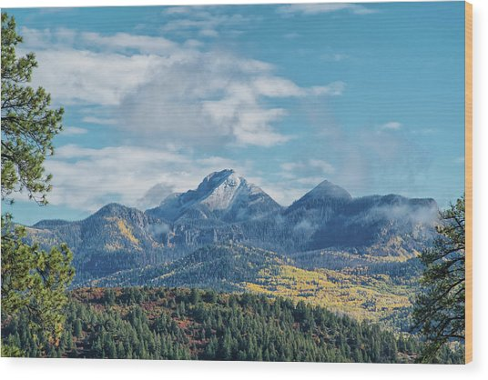 Pagosa Peak Autumn 2014 Wood Print