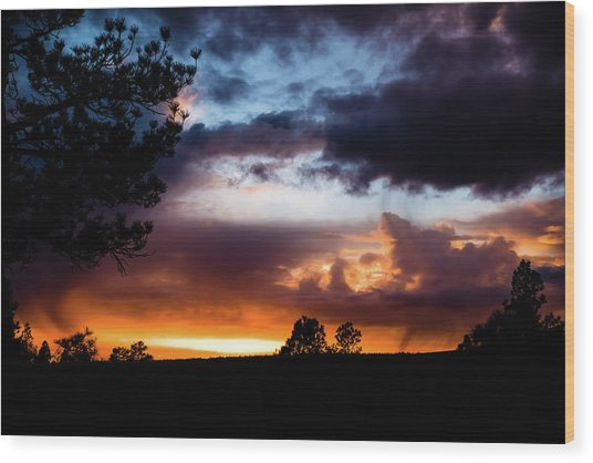 Pagosa Sunset 11-20-2014 Wood Print