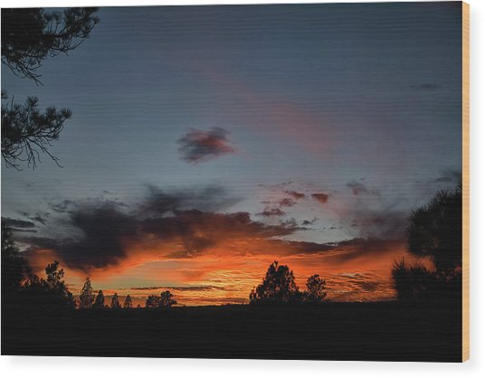 Pagosa Sunset 11-30-2014 Wood Print