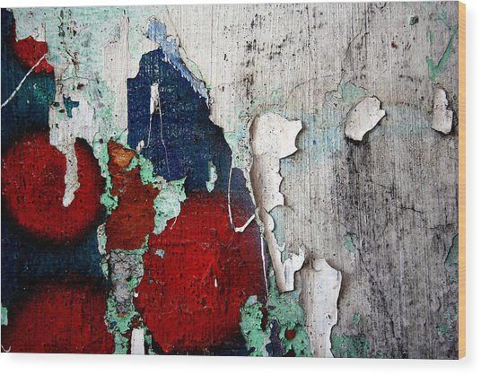 Paint Chips Wood Print by Jason Hochman