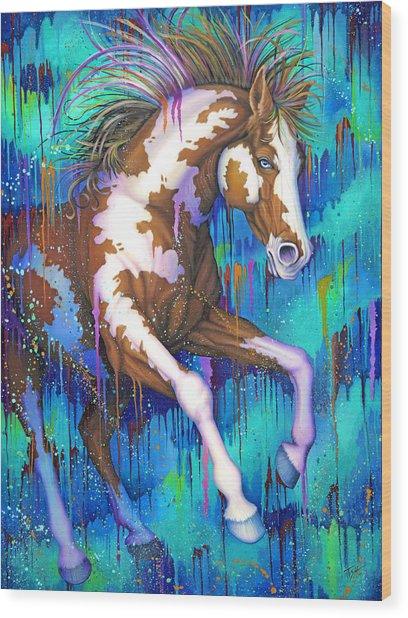 Paint Running Wild Wood Print