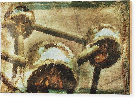 Painted Atomium Wood Print