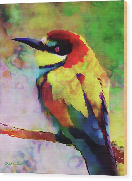 Painted Bee Eater Wood Print