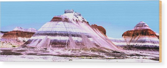 Painted Desert 0289 Wood Print by Sharon Broucek