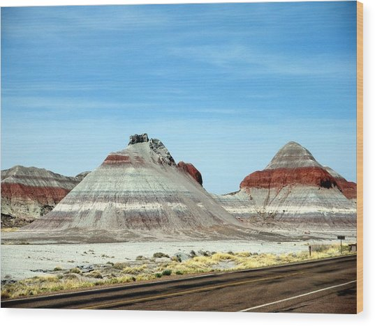 Painted Desert 2 Wood Print by Jeanette Oberholtzer