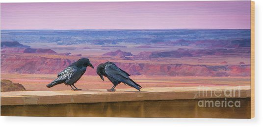 Painted Desert Pals Wood Print