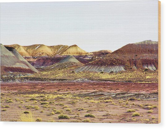 Painted Desert Winter 0602 Wood Print by Sharon Broucek