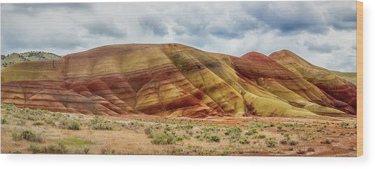 Painted Hills Panorama 2 Wood Print