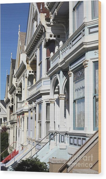 Painted Ladies Of Alamo Square San Francisco California 5d28021 Wood Print
