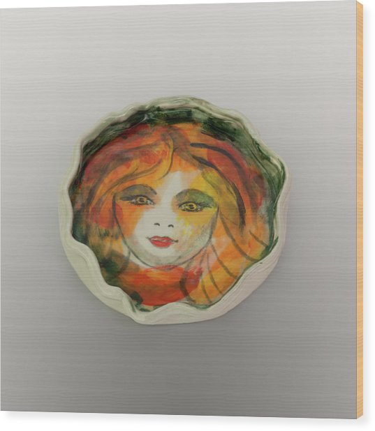 Wood Print featuring the photograph Painted Lady-1 by David Coblitz