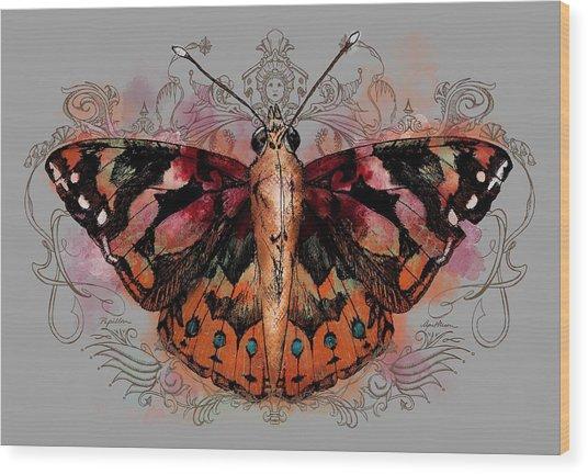 Painted Lady II Wood Print