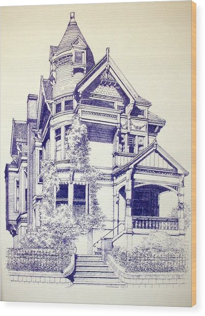 Painted Lady Wood Print by Tony Ruggiero
