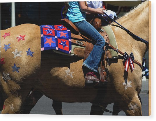 Wood Print featuring the photograph Painted Pony by Lorraine Devon Wilke