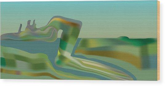 Painted Riverland Wood Print