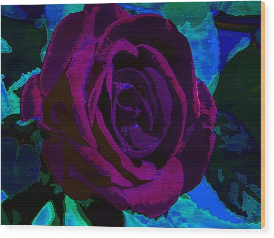 Painted Rose Wood Print