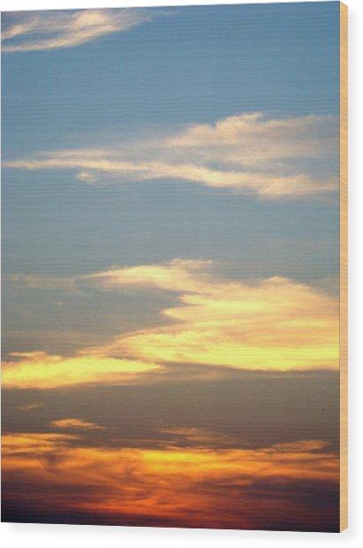 Painted Sky Wood Print by Ana Villaronga