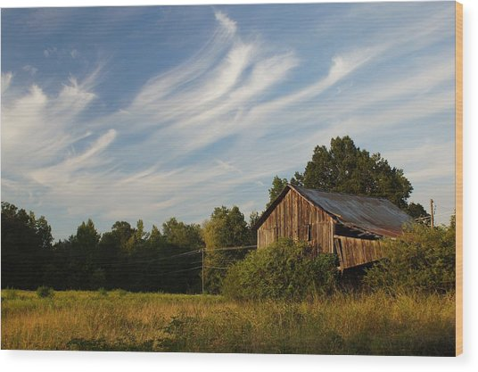 Painted Sky Barn Wood Print
