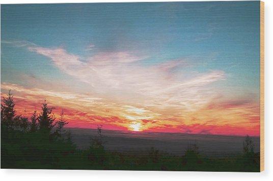 Painted Sky II Wood Print