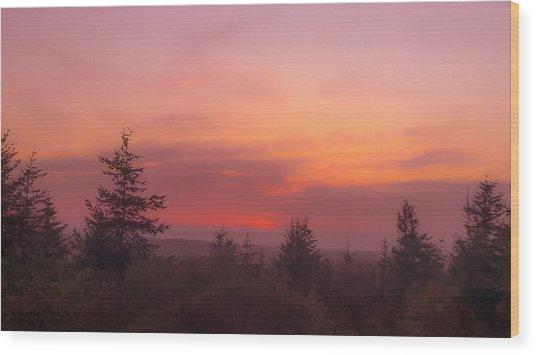 Painted Sky IIi Wood Print