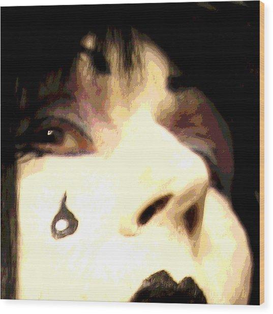 Painted Tear Drop Wood Print