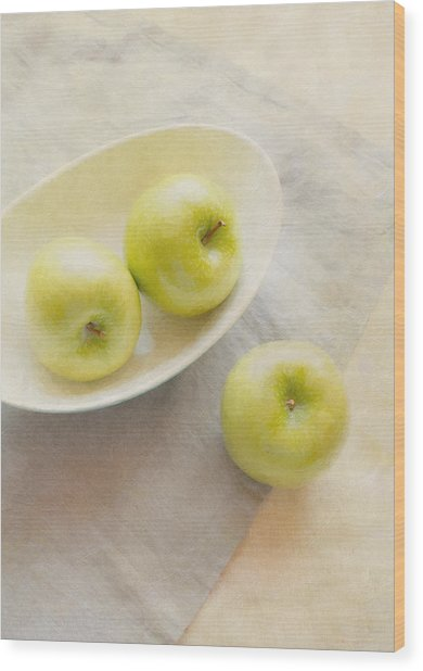 Painterly Apples Wood Print
