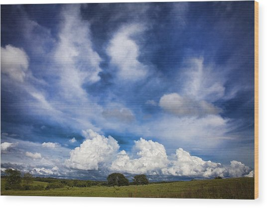 Painterly Sky Over Oklahoma Wood Print