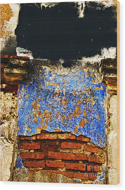 Painter's Wall By Darian Day Wood Print by Mexicolors Art Photography