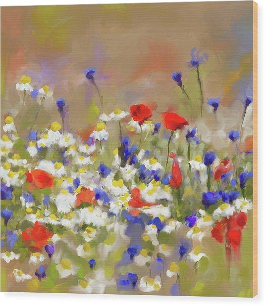 Painting 639 1 Texas Wildflowers 2 Wood Print