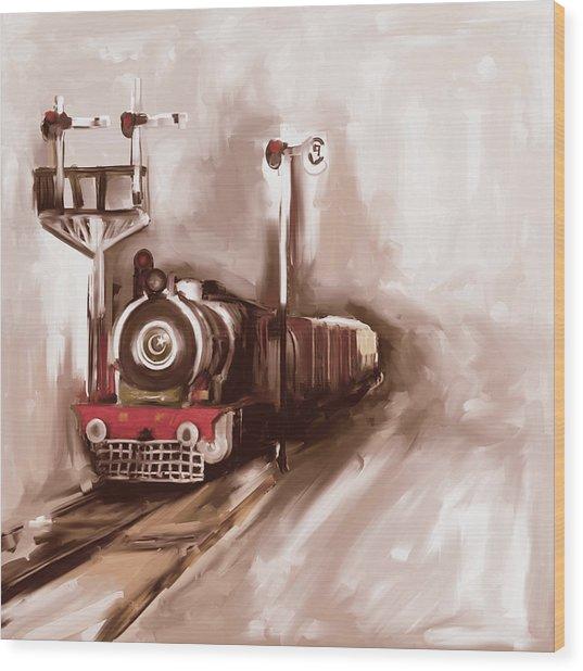 Painting 801 3 Steam Engine Wood Print