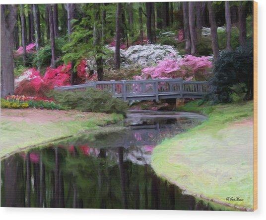 Painting At Calloway Wood Print