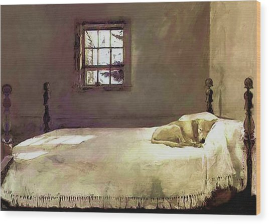 Painting Of The Print, Master Bedroom Wood Print