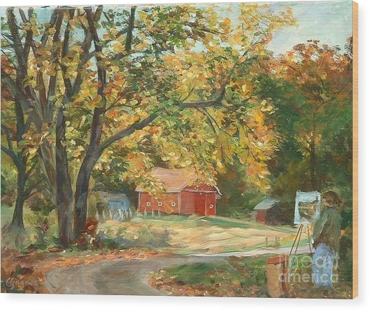 Painting The Fall Colors Wood Print