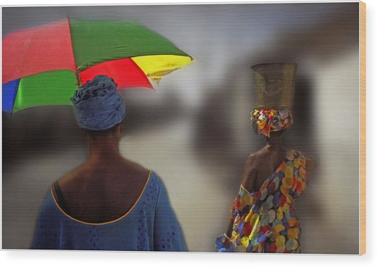 Painting The Streets Of Kayar Wood Print