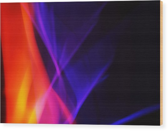 Painting With Light 3 Wood Print by Chris Rodenberg