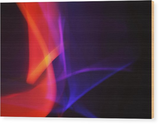 Painting With Light 4 Wood Print by Chris Rodenberg